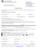 Transfer Form - University Of Colorado Denver