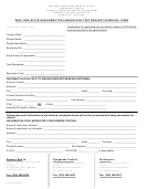 New York State Non-permitted Laboratory Test Request Approval Form