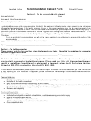 Recommendation Request Form Haverford College