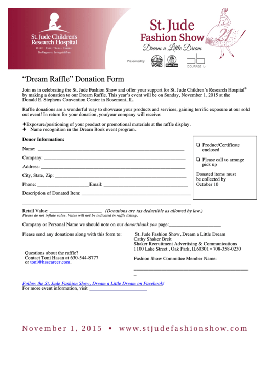 Top St Jude Donation Form Templates free to download in PDF, Word ...