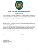 Florida Consumer Collection Practices Act Complaint Form