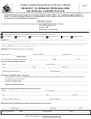 Form Mv-97 - Request To Remake Personalized Or Special Number Plates
