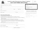 Form Gc-2 - Golf Cart Permit Application Form