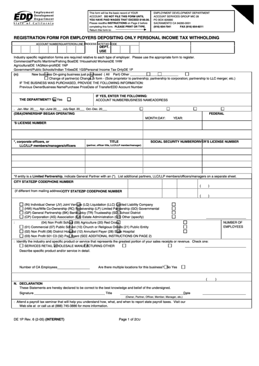 Top Edd Tax Form Templates free to download in PDF, Word and Excel ...