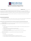Special Circumstances Request Form