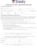 Program Extension Form