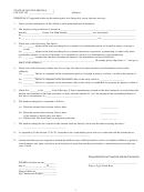 Affidavit Form - State Of South Carolina