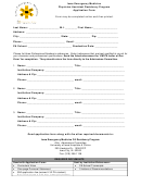 Physician Assistant Residency Program Application Form