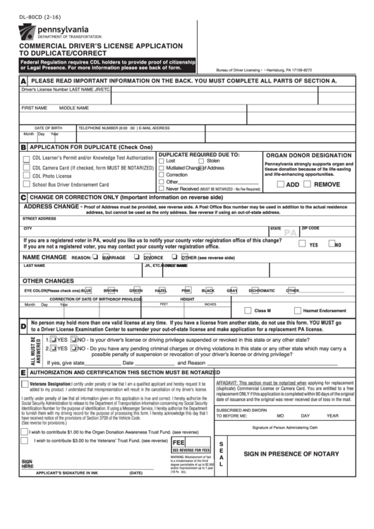 Top 7 Pa Drivers Permit Form Templates free to download in PDF format
