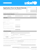 Unicef Application Unicef Application Form For Rental Subsidy
