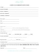 Sample Sale Order/payment Form