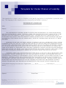 Template For Visitor Waiver Of Liability