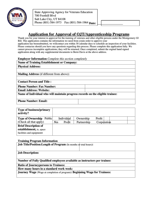 top apprenticeship application form templates free to