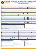 Chspe Certificate/transcript Order Form
