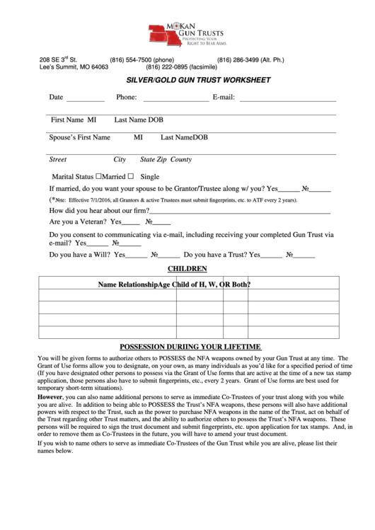 44 Trust Forms And Templates Free To Download In Pdf