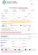 New Patient Registration And Medical History Sheet