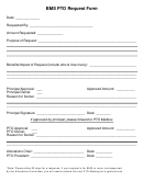Bms Pto Request Form