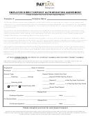 Employee Direct Deposit Authorization Agreement Template