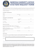 Eviction Request Form Norfolk County