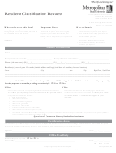Resident Classification Request Form - Metropolitan State University