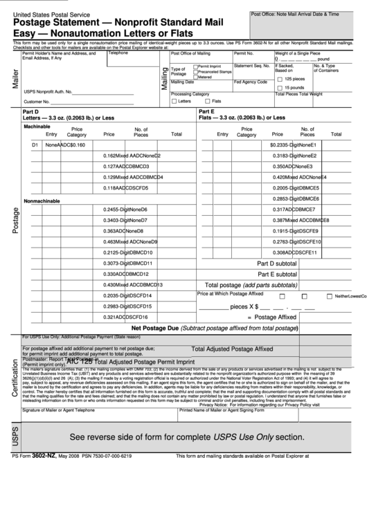 Top Usps Form 3602-nz Templates free to download in PDF, Word and ...