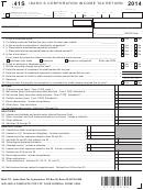 Form 41s - Idaho S Corporation Income Tax Return (2014)