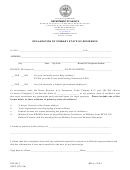 Declaration Of Primary State Of Residence