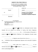 Domestic Relations Form 3.00 In The Court Of Common Pleas Division Of Domestic Relations Cuyahoga County, Ohio