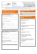 Section 68 Activity Application Form - Bland Shire Council