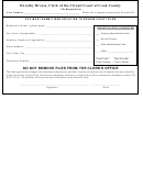 File Request Form (clerk Of The Circuit Court Of Cook County)