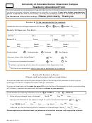 Residency Amendment Form - University Of Colorado Denver Downtown Campus