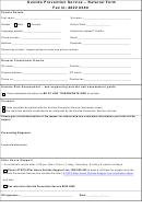 Suicide Prevention Service - Referral Form
