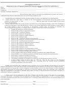 Volunteer Affidavit Form