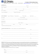 Customer Information Form Us Orthotics