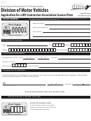 Form Dmv-54-ca - Contractors Association Of West Virginia