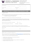 Individual Tax Id Number (itin) Request Form - University Of Washington