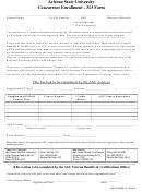 Vbco Form 315 - Arizona State University Concurrent Enrollment - 315 Form