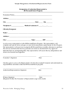 Sample Designation Of Authorized Representative Form
