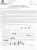 Parent Or Legal Guardian Supplemental Application For Virginia