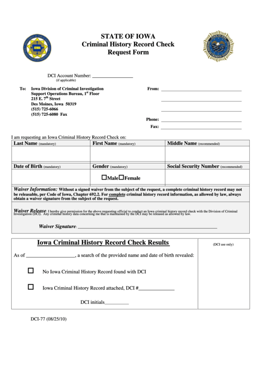 how to write a request for a criminal record check
