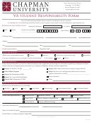 Va Student Responsibility Form - Chapman University