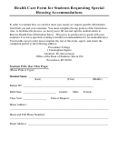 Health Care Form - Providence College