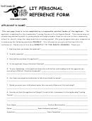 Lit Personal Reference Form