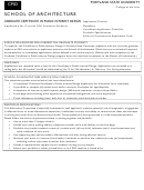 Application For Current Psu Graduate Students
