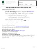 Parent Amended Tax 1040x Transcript Cover Sheet - Csus