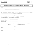 Rh 4 Sample Security Deposit Installment Payment Agreement