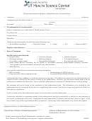 Patient Authorization For Release Of Health Records To External Parties