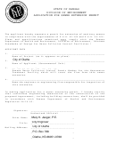 State Of Kansas Division Of Environment Application For Sewer Extension Permit
