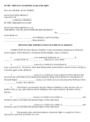 Motion For Termination Of Parental Rights - State Of New Mexico Children's Court