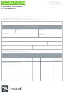 Claim Form - Cancellation, Curtailment Or Rearrangement